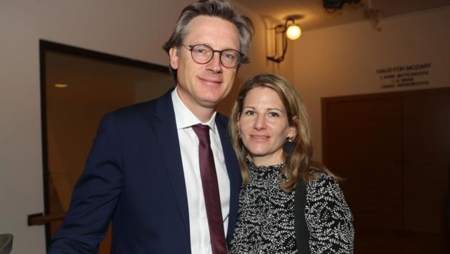 Johannes Hörl, Vorstandsdirektor der Glocknerstraße, mit Gattin Katharina. (Bild: Franz Neumayr)