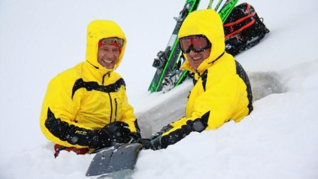 Rudi Mair (rechts) und Patrick Nairz vom Lawinenwarndienst. (Bild: Lawinenwarndienst Tirol)