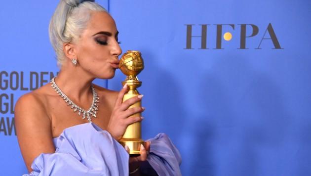 """Lady Gaga gewann einen Golden Globe für den """"besten Filmsong"""". (Bild: AFP)"""