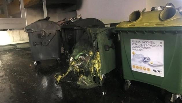Bereits im Jänner musste die Feuerwehr mehrmals Brände bei Müllcontainern löschen. (Bild: Berufsfeuerwehr Klagenfurt)