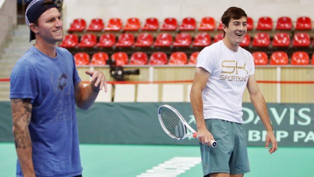 Dennis Novak (li,) und Sebastian Ofner (Bild: GEPA)