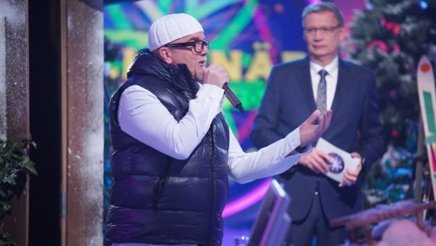 Moderator Günther Jauch und Stargast DJ Ötzi (Bild: RTL)