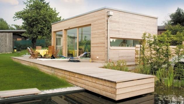 Der Waldinger Holzbauspezialist m-haus hat eigene Mini-Häuser designt. (Bild: m-haus)