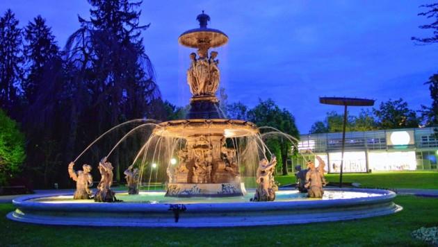 Pläne für ein Kaffeehaus im Forum Stadtpark wurden nun ad acta gelegt. Fläche um Brunnen und Pavillon soll nun intensiver genutzt werden. (Bild: Ricardo Heintz Graz)