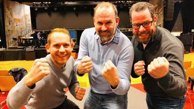 Die Neuen schon in Partylaune: Matthias Wurzer, Gert Höferer und Markus Stromberger. (Bild: Rosenzopf Christian)
