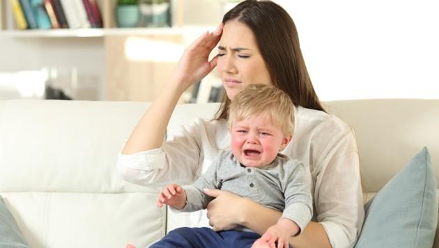 Keine Ruhe daheim - auch Mütter brauchen mal eine Auszeit (Bild: stock.adobe.com)