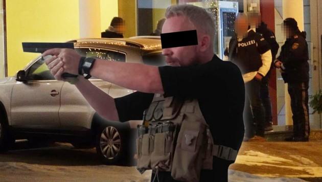 Roland H. soll seine Ex-Freundin in Krumbach getötet haben. (Bild: APA/EINSATZDOKU.AT, facebook.com, krone.at-Grafik)