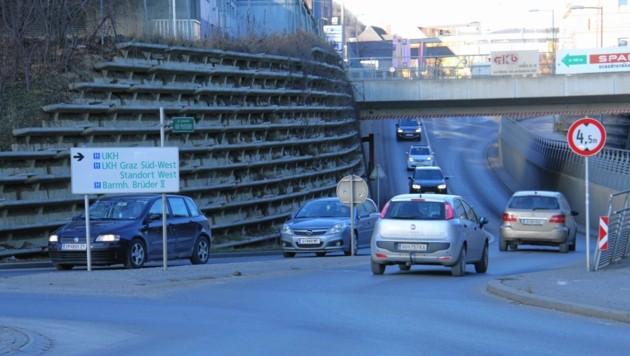 Ab Ende Februar ist der Bereich Alte Poststraße zwischen der FH gesperrt - für knapp zwei Jahre. (Bild: Jauschowetz Christian)