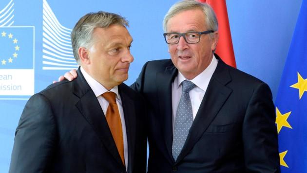 Viktor Orban und Jean-Claude Juncker (Bild: APA/AFP)