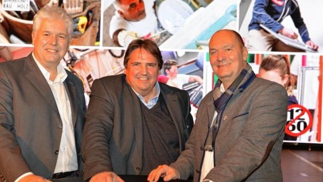 Andreas Huss, Josef Muchitsch und Othmar Danninger (Bild: Bau-Holz)