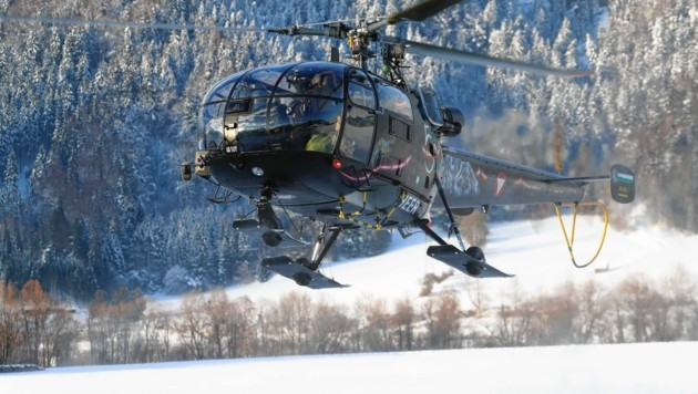 Der Alouette-Hubschrauber. (Bild: Sepp Pail)
