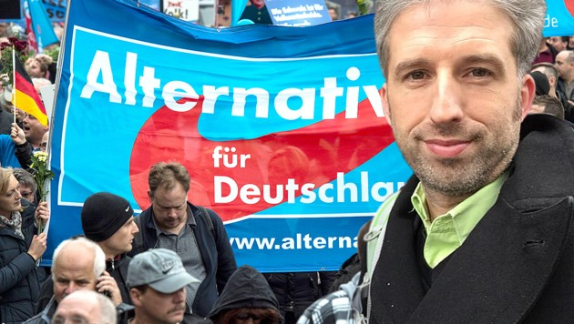 Boris Palmer will, dass seine Grünen mehr auf die Wähler der AfD zugehen. (Bild: AFP, facebook.com, krone.at-Grafik)