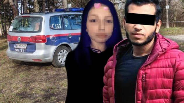 Yazan A. steht im Verdacht, Manuela (16) getötet zu haben. (Bild: APA/EINSATZDOKU/LECHNER, facebook.com, zVg, krone.at-Grafik)