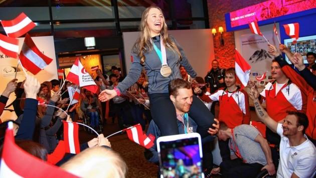 Karriere-Höhepunkt für Carina Edlinger: 2018 holte die Fuschlerin Bronze im Langlauf bei den Paralympics in Pyeongchang. (Bild: ÖPC/Diener)