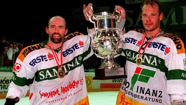 Teil der legendären 1998er-Mannschaft: Rick Nasheim und Bengt-Ake Gustafsson (Bild: GEPA)
