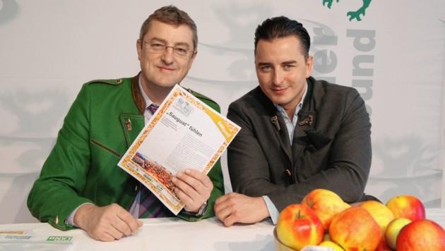 Franz Tonner und Andreas Gabalier (Bild: arthur mallaschitz,grazerstrasse 137,8431 leibnitz)