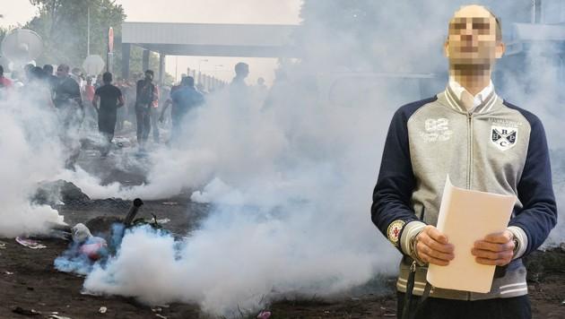 Ahmed H. muss nach seiner frühzeitigen Freilassung Ungarn verlassen und darf das Land zehn Jahre lang nicht betreten. (Bild: AFP, krone.at-Grafik)