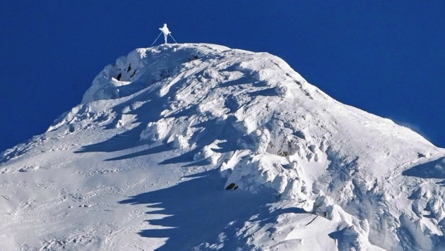 Die tief verschneite Reither Spitze am Seefelder Plateau. (Bild: LIEBL DANIEL)