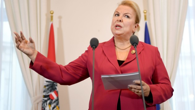 Sozialministerin Hartinger-Klein will die E-Card künftig sicherer machen. (Bild: APA/ROLAND SCHLAGER)
