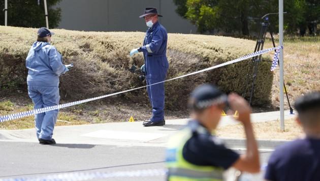 Die Ermittler bei der Arbeit (Bild: AAP Image)