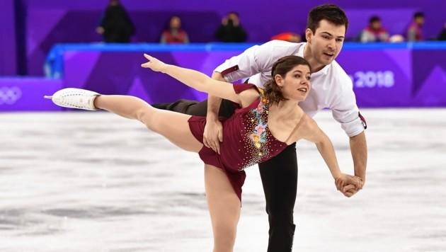 Severin Kiefer und Miriam Zieger streben in Weißrussland einen Spitzenplatz an. (Bild: AFP)
