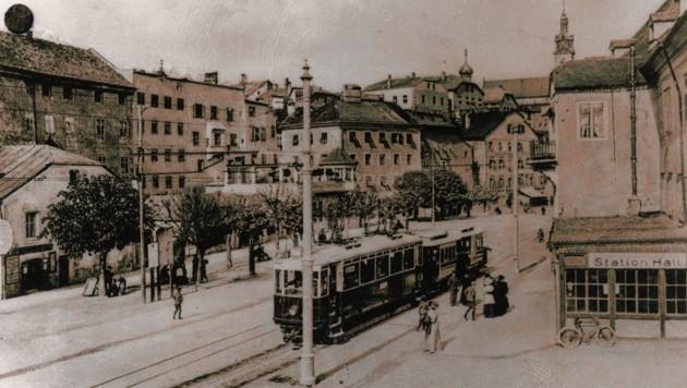 Ab 1915 wurden neue elektrische Triebwagen eingesetzt (Bild: StAH/Bildarchiv Stadtgemeinde Hall)