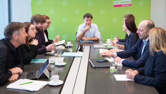 Jahresauftakt-Klausur des grünen Parteivorstandes (Bild: APA/GEORG HOCHMUTH)
