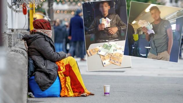 Bettlerbande in Salzburg überführt (Bild: Markus Tschepp/ Polizei Salzburg)