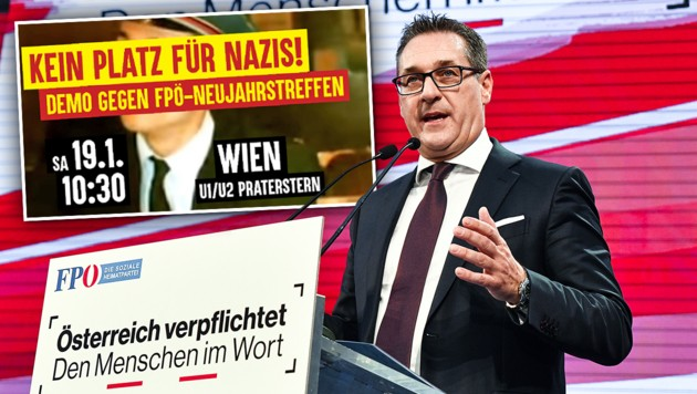 Linke Demo Gegen Fpö Neujahrstreffen In Wien Kroneat