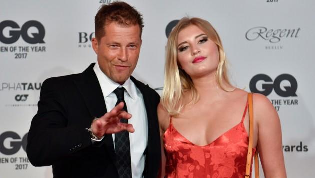 Til Schweiger und seine Tochter Luna (Bild: AFP)