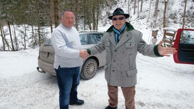 Der 69-jähriger Steirer dankte am Ort des Geschehens noch einmal Helfer Franz