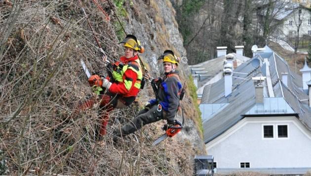 Die Bergputzer sind ab Mittwoch wieder im Einsatz. (Bild: Stadt Salzburg/Johannes Killer)