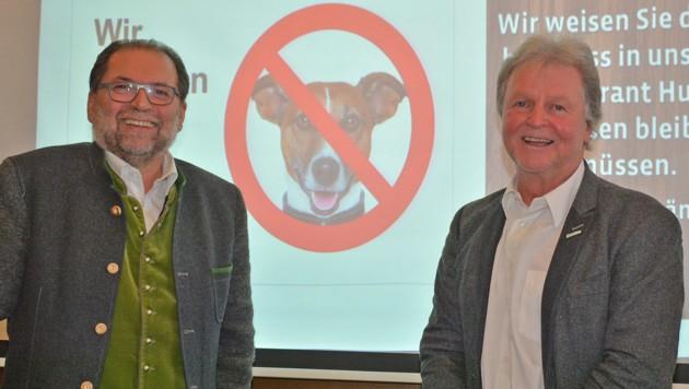 Wirt Helmut Satzinger (li.) und Braucommune-Chef Ewald Pöschko stehen zu ihrer Entscheidung. (Bild: Erwin Pramhofer)