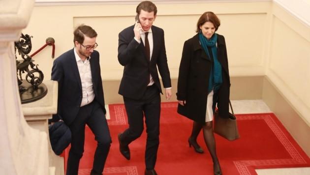 Mit Kurz könnte Edtstadler die Karrieretreppe bis in die EU-Kommission nach oben steigen. (Bild: Karl Schöndorfer)
