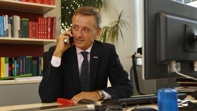 Wilfried Lehner, Leiter der Finanzpolizei im Finanzministerium (Bild: Arnd Oetting)