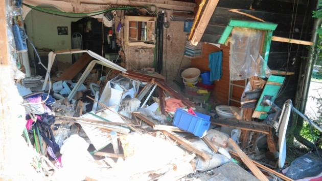 Das Haus war nach dem Unfall ein einziger Trümmerhaufen (Bild: Sepp Pail)