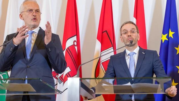 Justizminister Moser (li.), Innenminister Kickl (Bild: APA/GEORG HOCHMUTH)