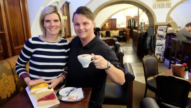 Michael Breitfuß führt mit seiner Frau Katharina das Café. (Bild: Einöder Horst)