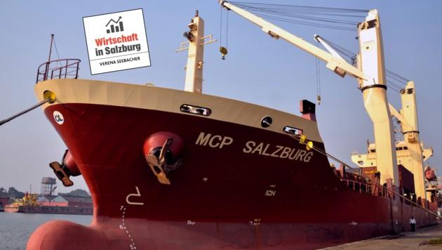 Im Jahr 2008 stach die MCP Salzburg erstmals in See. Heute ist sie vor allem in Fernost unterwegs (Bild: Kolkata Port Trust)