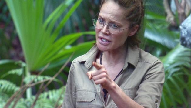 Schauspielerin Doreen Dietel musste das Dschungelcamp verlassen. (Bild: TVNOW)
