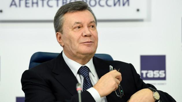 Viktor Janukowitsch hält sich seit seinem Sturz im Jahr 2014 in Russland auf. (Bild: APA/AFP/Kirill KUDRYAVTSEV)