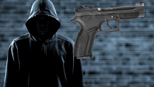 Pistolen vom Typ Flobert Grand Power wurden jetzt bei einer Großrazzia in Berlin gefunden. (Bild: YouTube.com, krone.at-Grafik)