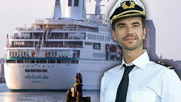 Florian Silbereisen muss mit seinem Traumschiff vorerst im Hafen bleiben. (Bild: ZDF, dpa, krone.at-Grafik)