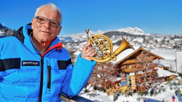 Das Instrument hat er immer dabei - Pepi Treichls Markenzeichen. (Bild: Christof Birbaumer)