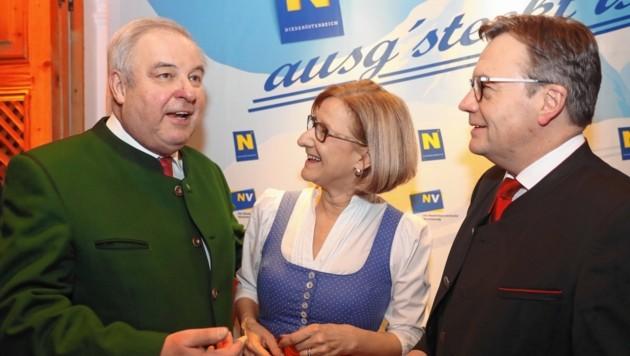 Landeshauptleute unter sich: Hermann Schützenhöfer, Johanna Mikl-Leitner und Günther Platter (Bild: BiKri)