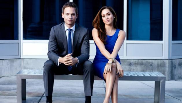 """Meghan wurde in der Serie """"Suits"""" an der Seite von Filmpartner Patrick J. Adams weltberühmt. (Bild: www.PPS.at)"""
