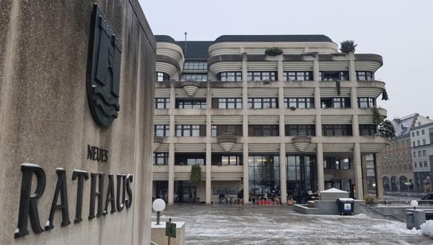 """Das Neue Linzer Rathaus, """"Abflugbasis"""" für Sozialmissbrauchs-Ermittlungen.- (Bild: Werner Pöchinger)"""