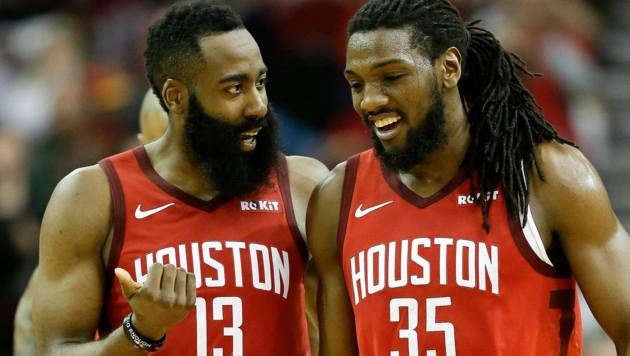 James Harden und Kenneth Faried - beide in Diensten von Houston (Bild: Associated Press)