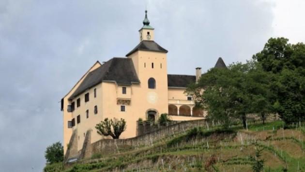 Oberhalb von Wolfsberg in der Nähe von Sankt Marien, umgeben von Weingärten, thront Schloss Thürn. (Bild: immobilien-kitz.com)