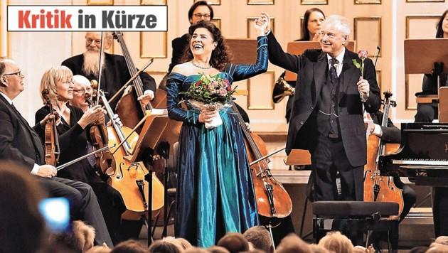 Freudvolles Mozart-Duo auf der Bühne: Mezzosopran Cecilia Bartoli, Pianist Andras Schiff (Bild: Wolfgang Lienbacher)